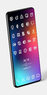 Aline White icon pack – linear white icons v1.0 [Patched] 4