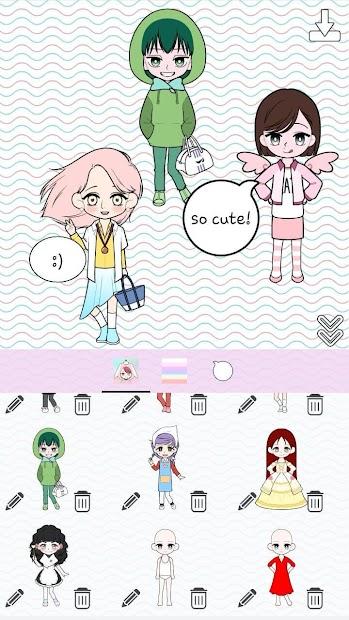 Captura 4 de My Webtoon Character Girls - K-pop IDOL Maker para android