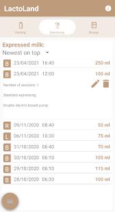 LactoLand - Pump Log - Exclusive Pumping
