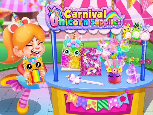 Carnival Unicorn School Supplies - Trendy Carnival  screenshots 1