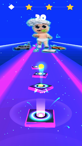 Vlad bumaga A4-Kids Dancing Tiles Hop 1.0 Screenshots 3