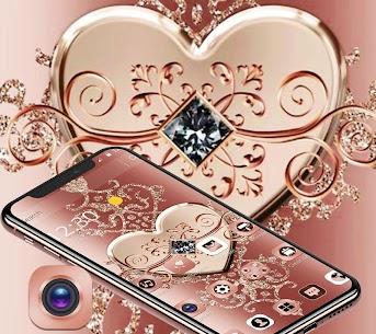 Rose Gold Diamond Heart Luxury Theme 1.1.2 Download Mod Apk 3