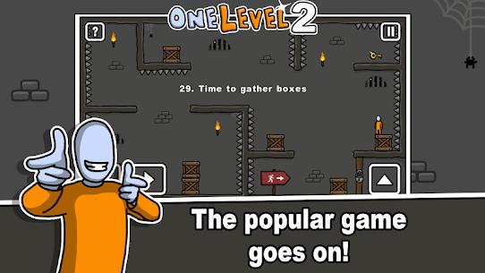 One Level 2: Stickman Jailbreak Mod Apk 1.8.1 1