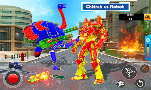 Flying Ostrich Robot Transform Bike Robot Games 38 screenshots 1