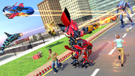 Mega Robot Games: Flying Car Robot Transform Games modavailable screenshots 21