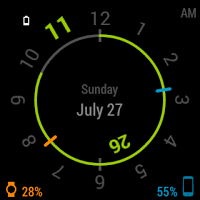 Chrono Watch Face for Wear