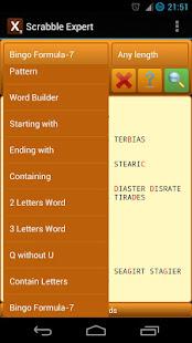 Word Expert (for SCRABBLE) 4.7 screenshots 6