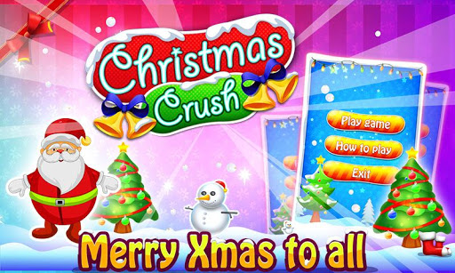 christmas crush 2020 - free xmas & santa games screenshot 1