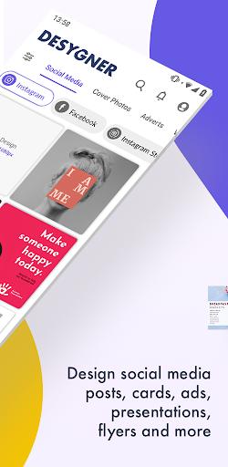 Desygner: Free Graphic Design Maker & Editor android2mod screenshots 2
