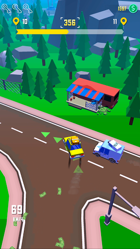 Taxi Run - Crazy Driver modiapk screenshots 1