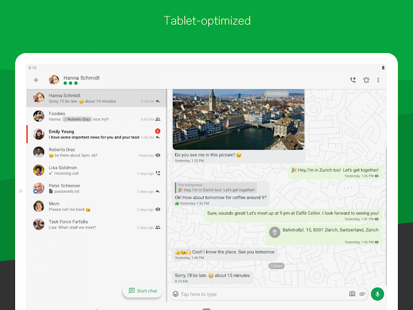 Threema. Secure and private Messenger Android App Screenshot