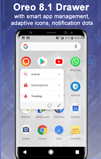Launcher Oreo 8.1 1.9 Screenshots 2