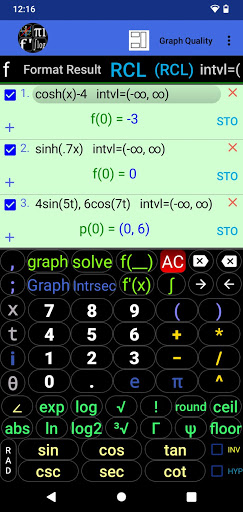 Download APK: Graphing Calculator | Intersection, Derivative v1.04 [Paid]