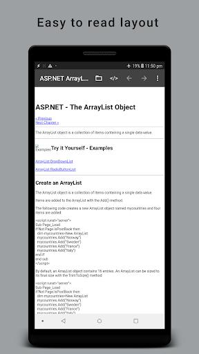 HTML Reader/ Viewer android2mod screenshots 1