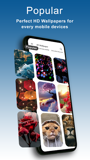 4K Wallpapers - HD, Live Backgrounds, Auto Changer 7.0 Screenshots 1