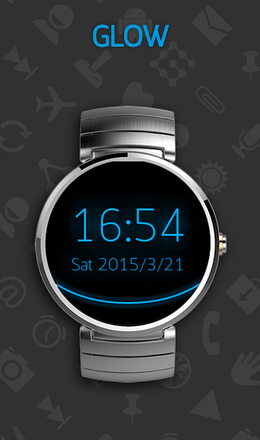 Holo Watch face Android App Screenshot