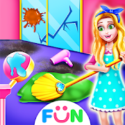 Girls Hair Salon  Tidy Up – Kids Cleaning Games