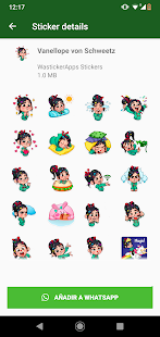 ANIMATED WAstickerApps Princess Cartoon Stickers