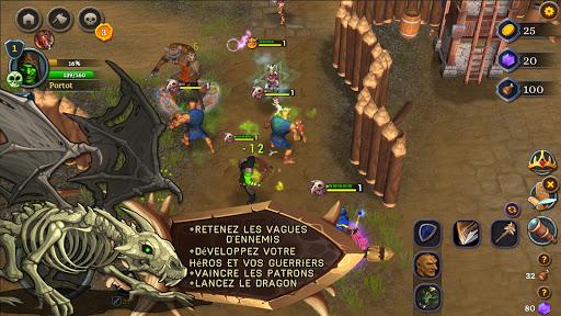 Télécharger Bataille des héros. Défense du Royaume. APK MOD (Astuce) screenshots 1