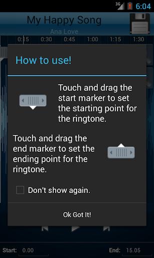 MP3 Cutter and Ringtone Makeru266b 2.5 Screenshots 2