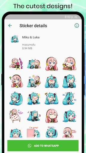 VOCALOID MIKU Stickers for WhatsApp 1.2 screenshots 3