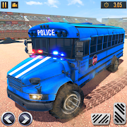 US Police Bus Demolition Derby Crash Stunts 2021