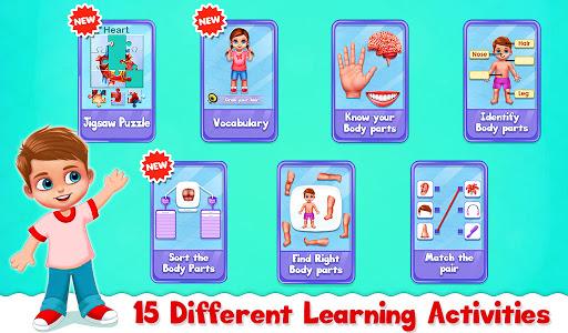 Human Body Parts - Preschool Kids Learning  screenshots 1