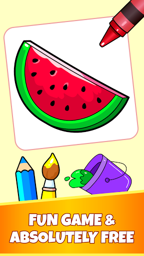 Fruits Coloring Pages - Game for Preschool Kids 1.0 screenshots 1