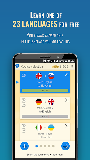Qlango: Learn Spanish, French, German and more modavailable screenshots 1