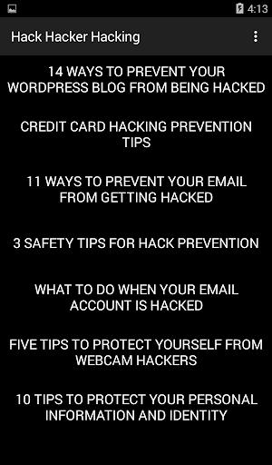 Hack Hacker Hacking 3.1 Screenshots 3