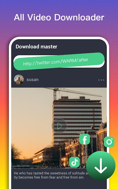 Captura 2 de Video Downloader Master para redes sociales para android