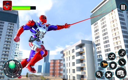 Flying Robot Hero - Crime City Rescue Robot Games 1.7.6 screenshots 1