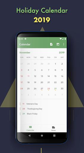 Holiday Calendar  Paidproapk.com 1