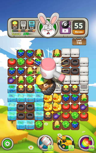Farm Raid : Cartoon Match 3 Puzzle  screenshots 17