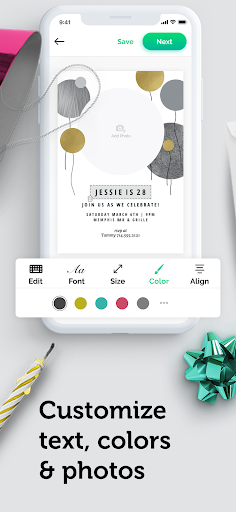 Invitation maker & Card design by Greetings Island android2mod screenshots 4
