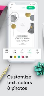 Invitation maker & Card design by Greetings Island 1.4.6 Screenshots 4