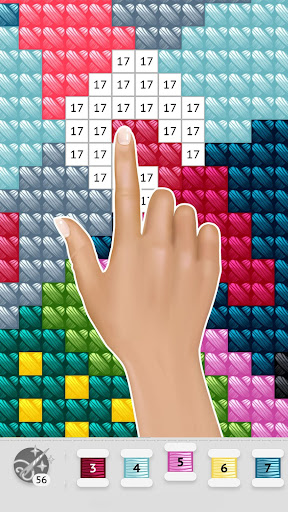 Cross Stitch Club u2014 Color by Numbers with a Hoop 1.4.32 screenshots 6