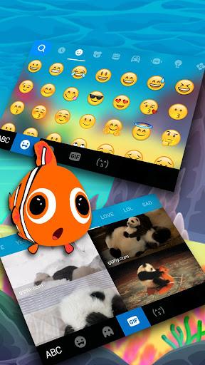 Animated Crown Fish Keyboard Theme 1.0 screenshots 4