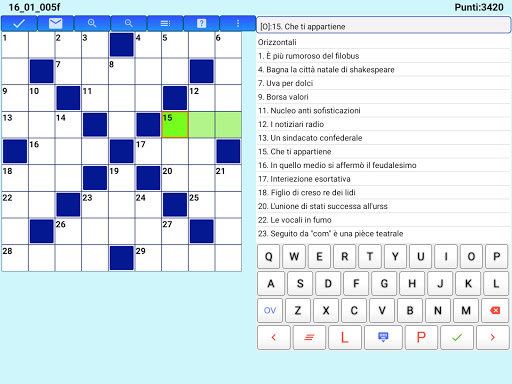 Best Italian Crossword Puzzles - Advanced Level 10.1 Screenshots 12