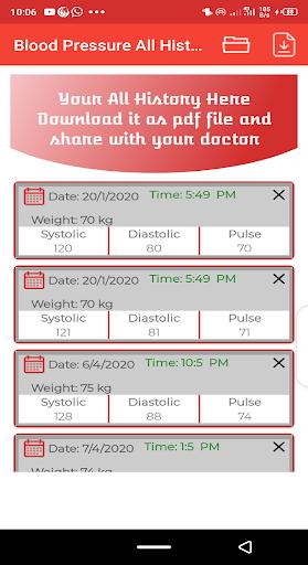 Blood pressure Tracker & bp diary 1.10 Screenshots 4