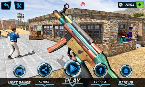 Combat Shooter 2: FPS Shooting Game Mod Apk (Dumb Enemy) 1