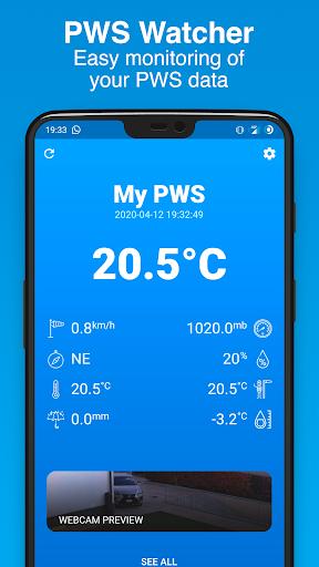 PWS Watcher u26c5ufe0f Personal Weather Station Monitoring 1.10.11 Screenshots 1