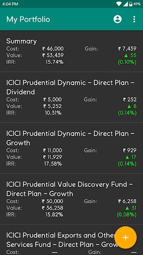 My Portfolio - India (Track Mutual Funds, PPF etc)  screenshots 1