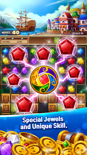 Jewels Fantasy Crush : Match 3 Puzzle apkpoly screenshots 5