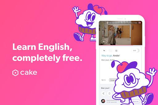 Cake - Learn English for Free 3.4.0 Screenshots 1
