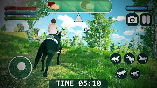 horse simulator 2021 - wild horse games free screenshot 1