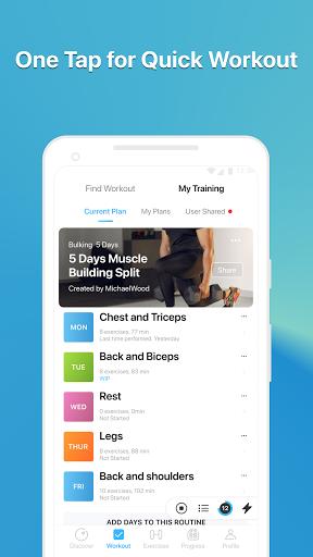 JEFIT Workout Tracker, Weight Lifting, Gym Log App 10.80 Screenshots 7