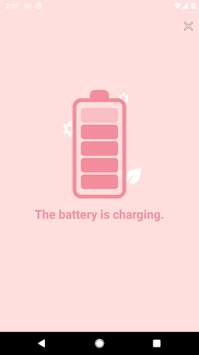 Battery charge sound alert - peach  screenshots 1