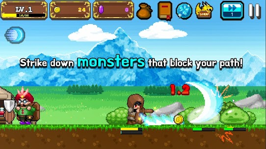 Tap Knight : Dragon's Attack Mod Apk 1.0.17 (Free Upgrade For Equipment) 2