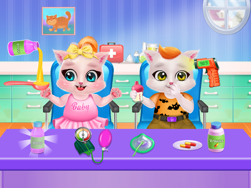 Kitty Care Twin Baby Game  screenshots 9